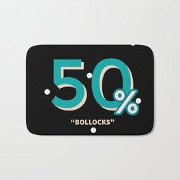 50% Bollocks Bath Mat