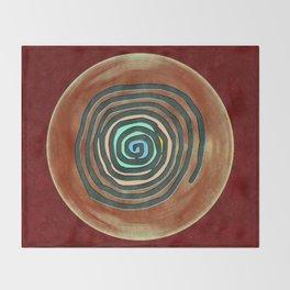 Tribal Maps - Magical Mazes #02 Throw Blanket