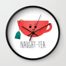 Naught-tea Wall Clock