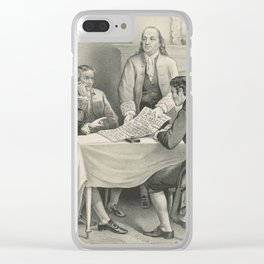 Vintage Illustration of the Declaration Committee Clear iPhone Case