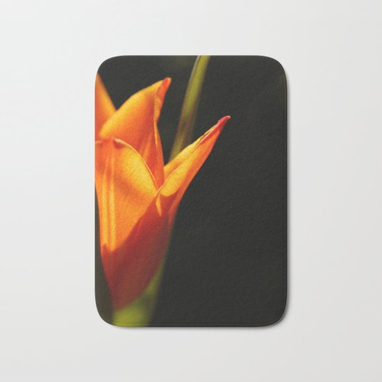 tulip, flower, warm light Bath Mat