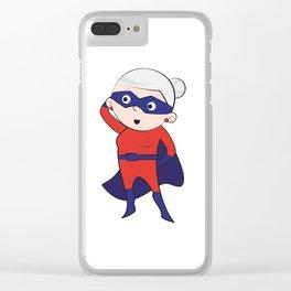 Super grandma Clear iPhone Case