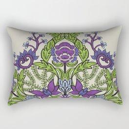 Spring Garden Mandala in Ultra Violet Rectangular Pillow