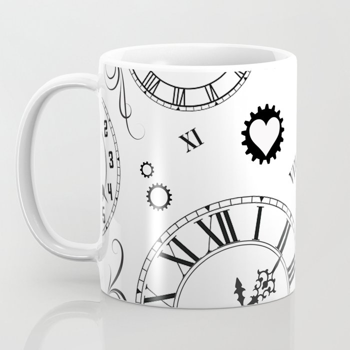 Roman Numeral Clock Coffee Mug