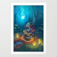 return Art Prints featuring Return by El Zapata