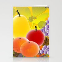 fruit Stationery Cards featuring Fruit by Ramon J Butler-Martinez