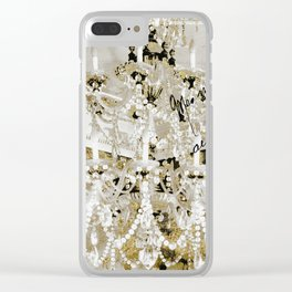 Crystal Pearls Chandelier Paris Clear iPhone Case