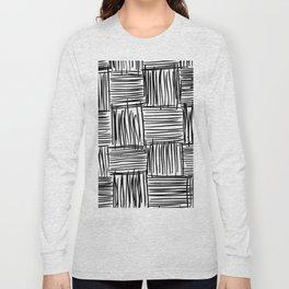 Modern Square Black on White Long Sleeve T-shirt