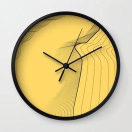yellow river Wall Clock