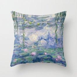Water Lilies Claude Monet Fine Art Throw Pillow