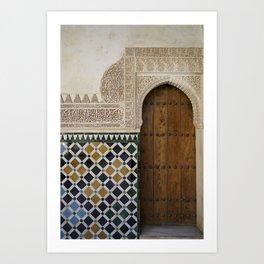 Alhambra Door Art Print