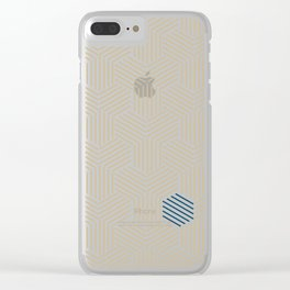 Hive Gold #397 Clear iPhone Case