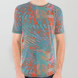 Coral Tides All Over Graphic Tee