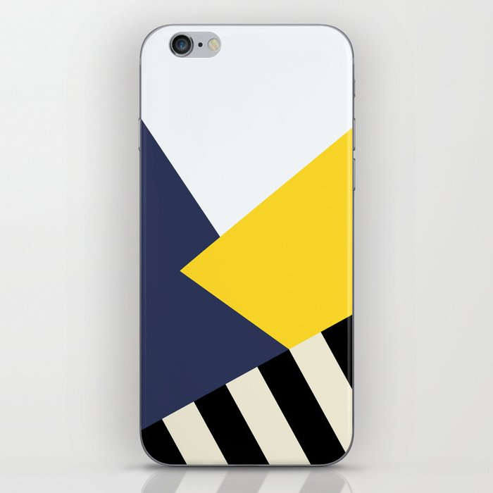 Bold Yellow Memphis Triangle iPhone Skin