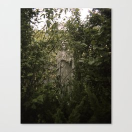 a statue of Canvas Print