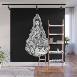 Chinese god. Beautiful goddess. Peace. Beauty concept. Meditation. Healing concept. Chinese medicine Wall Mural