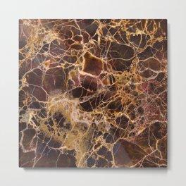 Marble Emperador Metal Print