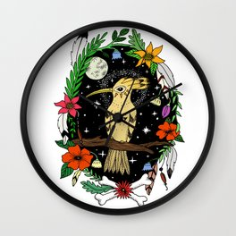 Night bird in color Wall Clock