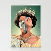 queen Stationery Cards featuring Queen by Victoria Ulrikke Iles