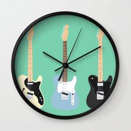 Flat Telecaster custom 6 Wall Clock