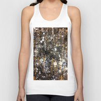 black and gold Tank Tops featuring Black Gold by Tyler Resty