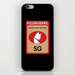 Killer Gerbil Red Tubing iPhone Skin