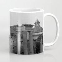roman Mugs featuring Roman Wanderings by Upperleft Studios