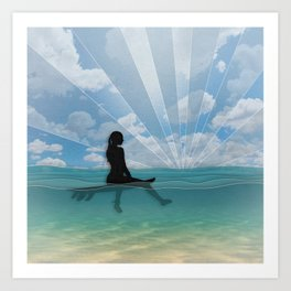 View from a Surfboard Art Print