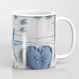 Blue Beach Still Life Coffee Mug