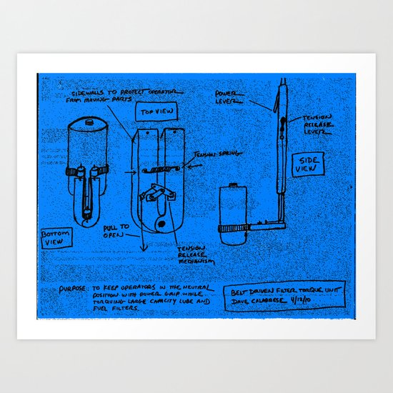 Large Capacity Lube/Fuel Filter Torque Unit-design no.1 Art Print