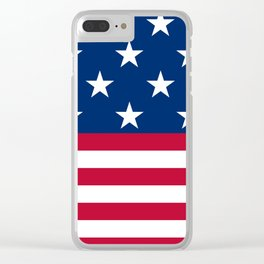 US Flag Clear iPhone Case