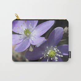 Woodland hepatica, Anemone acutiloba - a sure sign of spring Carry-All Pouch