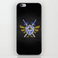 the legend of zelda iPhone & iPod Skins featuring Heroes Legend - Zelda by Art & Be