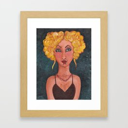 Blond with Updo Framed Art Print