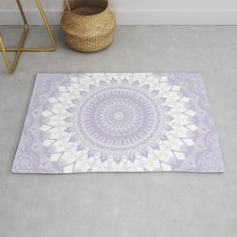 Boho Pastel Purple Mandala Rug