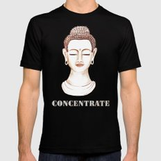 Buddha Concentrate MEDIUM Black Mens Fitted Tee