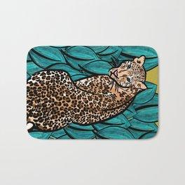 Jungle Cat | Leaves Bath Mat