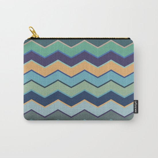 Colorful Wave II Carry-All Pouch