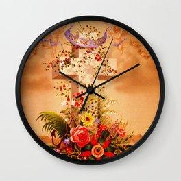 Faith Hope Charity - Christian Cross Wall Clock