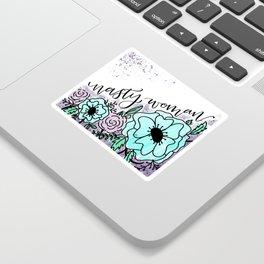 Nasty Woman Floral Sticker