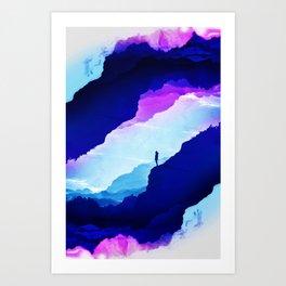 Violet dream of Isolation Art Print