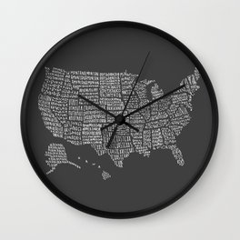 United States map Wall Clock
