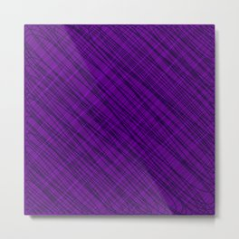 Fluttering ornament of their violet threads and dark intersecting fibers. Metal Print