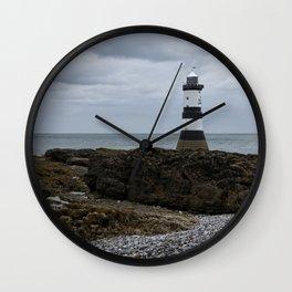 View Of The Trwyn Du Lighthouse Wall Clock