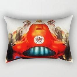 1951 Internationales ADAC Eifelrennen Grand Prix Motor Racing Nurburgring Vintage Poster Rectangular Pillow