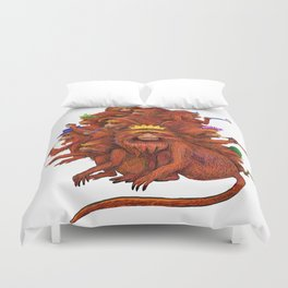 Year of the Red Fire Monkey!  Happy New Year! Duvet Cover