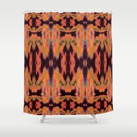 kilim Shower Curtains featuring Azra Kilim by Nina May Designs