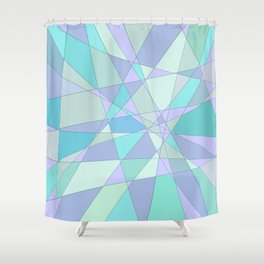 Shattered Purple & Green Shower Curtain