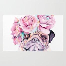 Flower Pug Rug