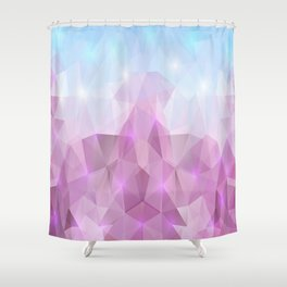 Abstract polygonal background Shower Curtain